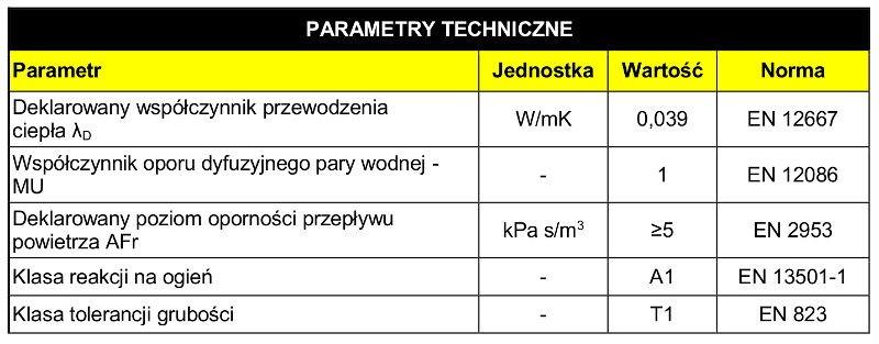 Isover Uni Mata Welna Mineralna Grubosc 5cm 19 20m2 Tarti