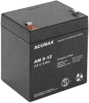 Akumulator   5Ah/12V AM5-12 T1 ACUMAX