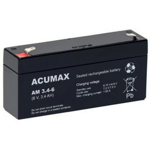 Akumulator   3,4Ah/6V AM3,4-6 ACUMAX