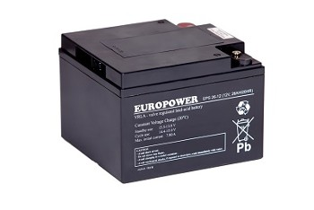 Akumulator  26Ah/12V EPS26-12 EUROPOWER