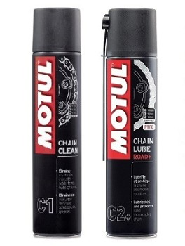 Motul C1 Chain Clean & C2+ Lube Road