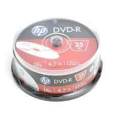 CD DVD-R stos 25szt.  HP